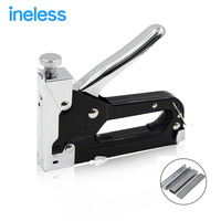 3 Way Nail Staple Gun Stapler For Wood Furniture Door Upholstery Chrome Finish With 900 Nails