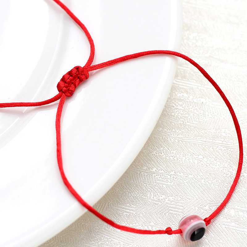 ラッキーアイカラフルなビーズは赤列スレッドロープのための邪眼ジュエリーギフト EY4703