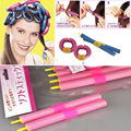 Hot 12Pcs Safe Soft Foam Curlers Makers Bendy Twist Hair Tool DIY Styling Rollers Cling Strip High Quality