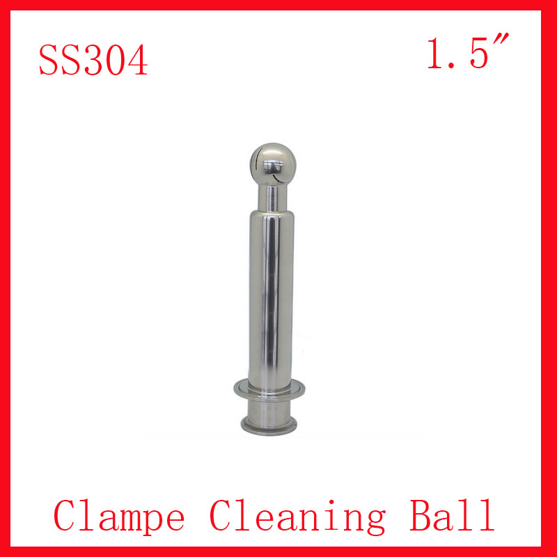 HOT 1.5 SS304 Stainless Steel Rotary Spray Cleaning Ball CIP Tri clampe Tank cleaning ball zuczug 1 5 ss304 stainless steel female rotary spray cleaner sanitary nipple rotating cleaning ball nozzle horn washer tank