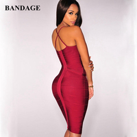 Free Shipping Sexy Dresses Party Night Club Dress Women Backless Deep V Neck New Years Eve Dress Women Bandage Bodycon Dresses