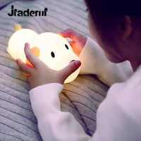 Jiaderui Cute Children S Night Light Built In USB Rechargeable Battery Touch Timing Bedside Light Dog