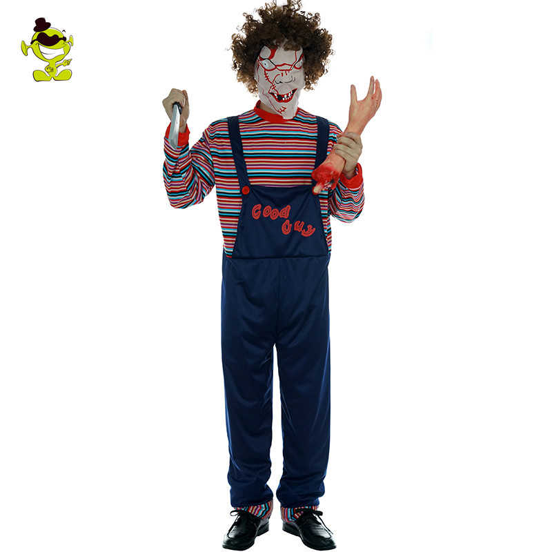 Men S Prisoner Halloween Costume Bloody Prisoner Clothes Men Prison Uniform Freddy Vs Jason Party Killer Cosply Costumes