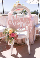 Baby Shower Chair Sign Mommy to Be Wooden Cutout in Custom Colors for Baby Shower Decoration for New Mom