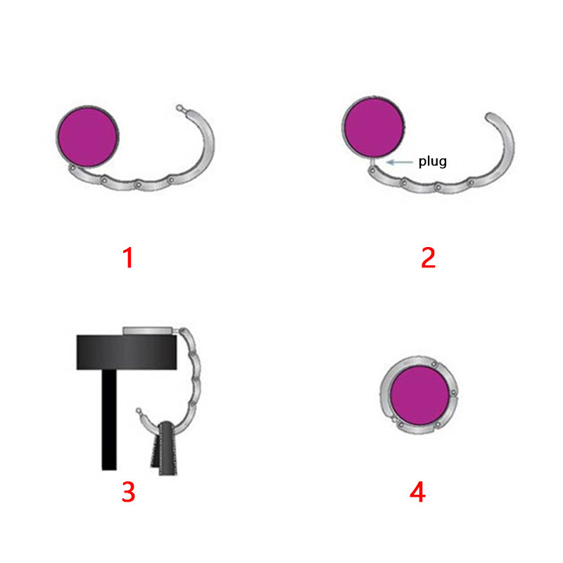Basketball Sport Simple Geometry Pattern Table Hook Folding Bag Desk Hanger Foldable Holder
