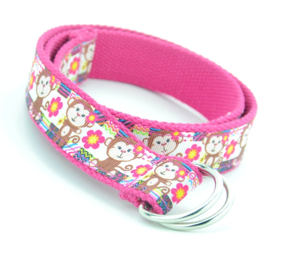 85cm Long Kids Cute Ribbon Belts Cartoon Character Children Jeans Belt Fashion Boys & Girls Multicolors Belts Apparel Accessories