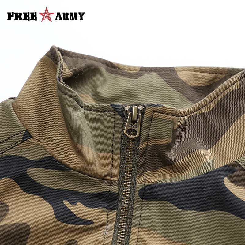 Nuove Autunno Giacca Size Camouflage Giubbotti Donne Le Bomber Camo Jeans Femminile Di Plus Marca Freearmy Coat Per ED9IWY2H