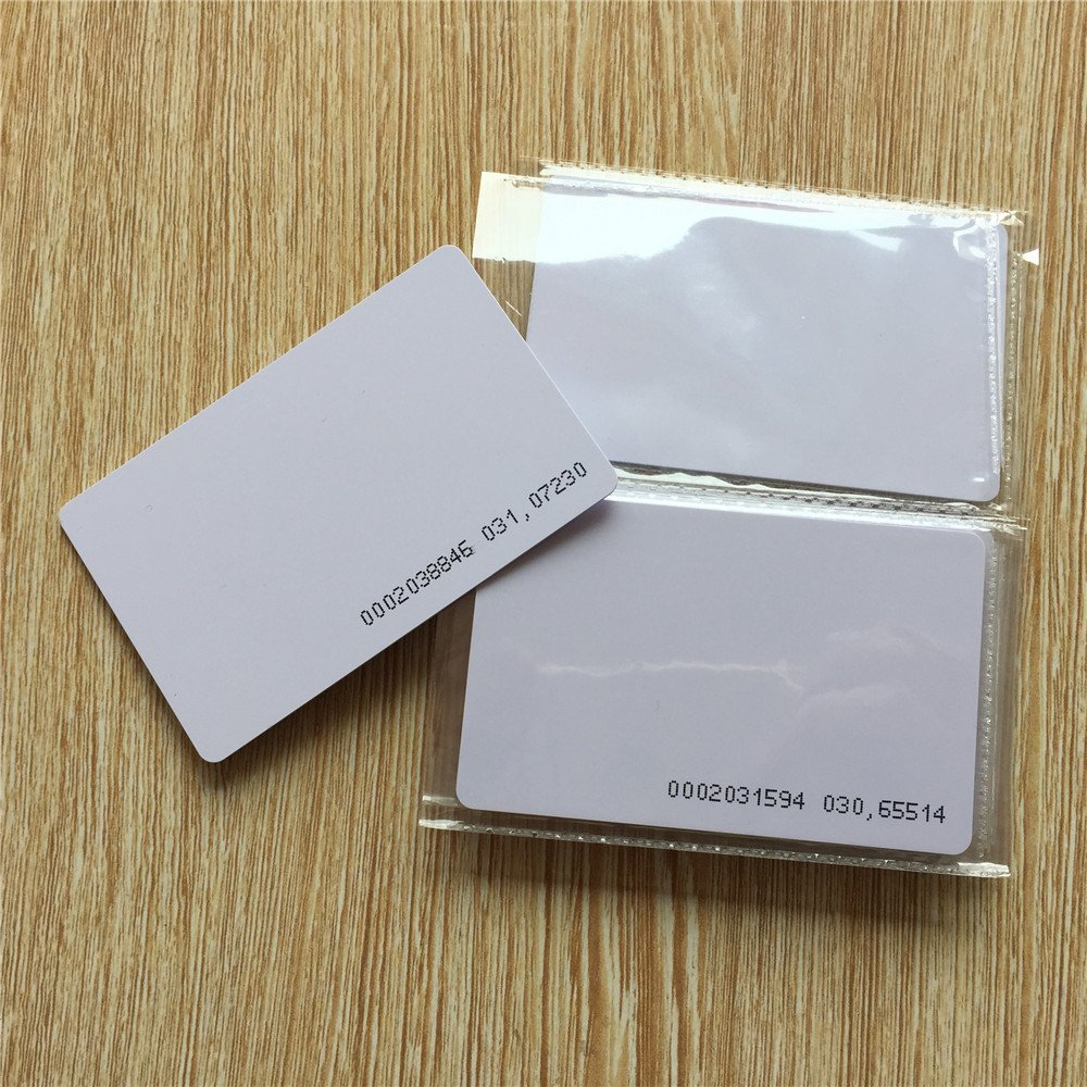 125Khz EM4100/TK4100 Door Entry Access Blank White Proximity RFID Card Read Only High PVC Card For Home/office(pack Of 10)