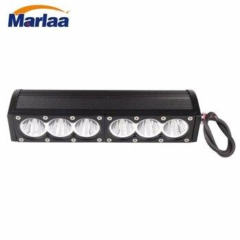 """60W LED WORK LIGHT BAR white Straight 11"""" Car Driving Lamp For Off Road Truck Flood Spot Beam Fog Light"""