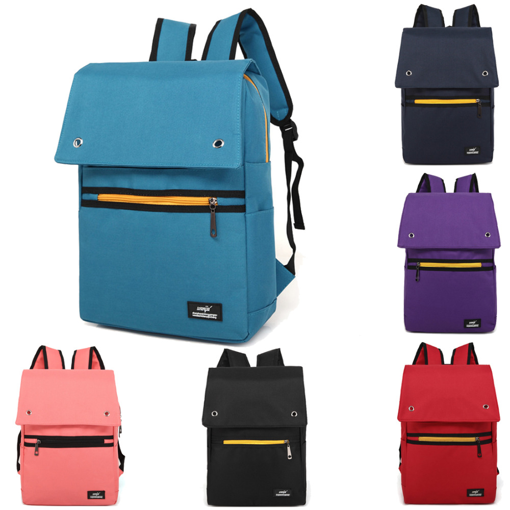 14 15 15.6 Inch Canvas Computer Laptop Notebook Backpack Bags Case School Backpack for Men Women Student