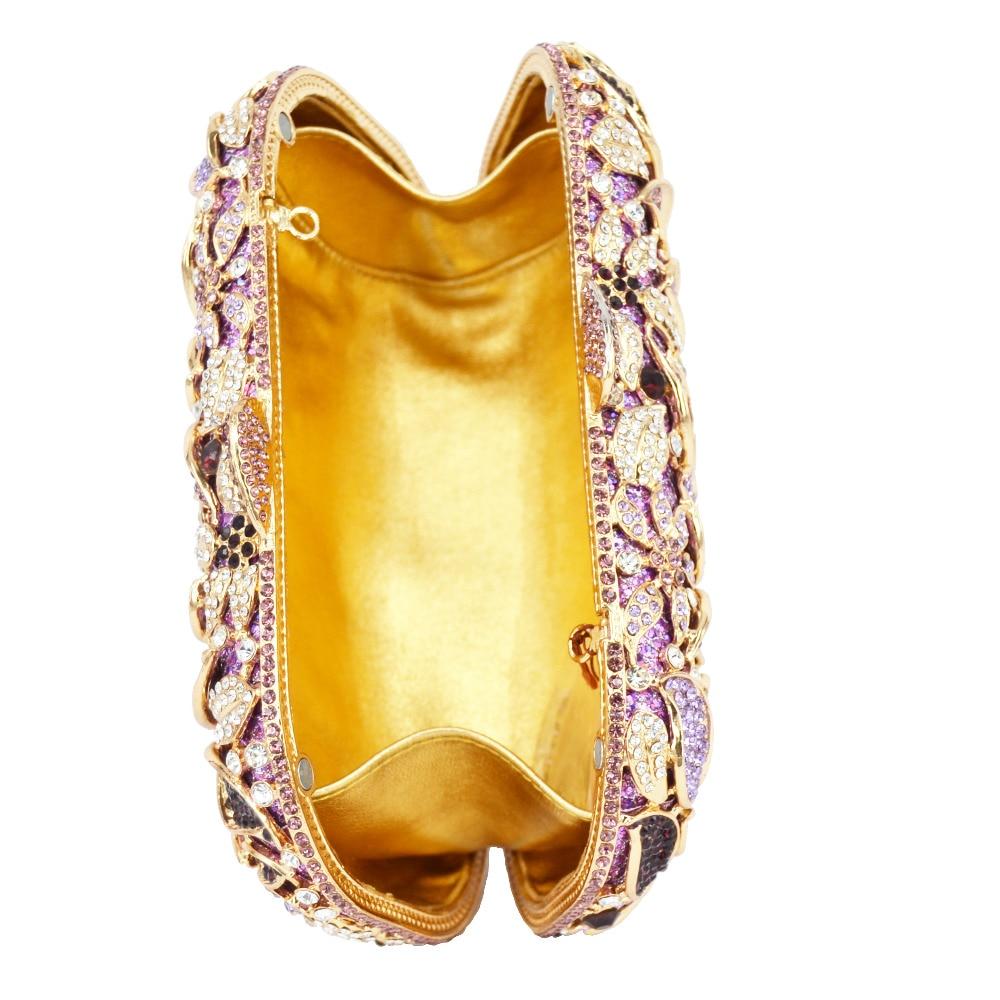 Embrayage Embrayages Bourse Soirée Concepteur Sac Fleur Jour Pourpre Gold Silver purple De Portefeuille Parti Femmes Diamant Pochette Dames Cristal Hznz5AxZqw