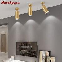 Moderna lâmpada do teto foyer cobre spotlight sala de estar led latão luz quarto lâmpadas parede corredor brilho lâmpadas teto varanda