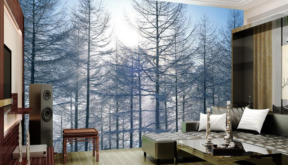 wallpaper for walls 3 d photo customize wall paper 3d Pine forest 3D landscape background 3d mural wallpaper for living room free shipping waterfall wood bridge 3d landscape landscape background wall bedroom bathroom living room wallpaper mural