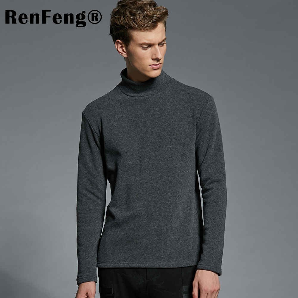 Men's Cotton Undershirts Underwear Long Sleeved Undershirt Spring Turtleneck Shirts Bodybuilding Solid Color Thermal Basic Shirt (4)