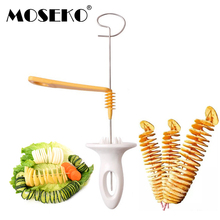 MOSEKO Potato Spiral Cutter Slicer Chips Tower Making Twist Shredder Cooking Tools