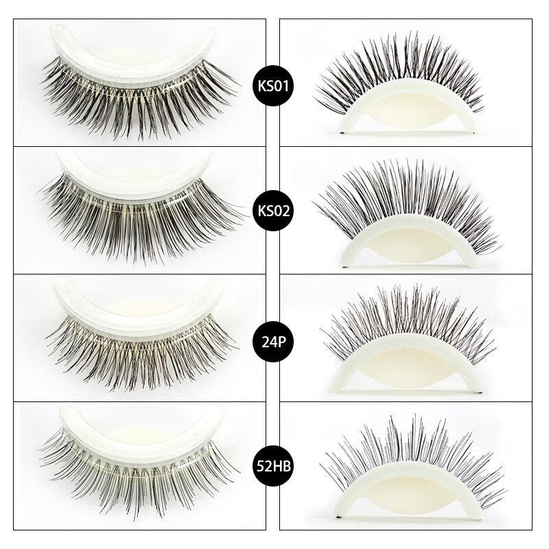 Genailish 1 Pair Self Adhesive No Glue Curl Individual Natural False Eyelashes Eyelash Extension mink 3D lashes Makeup Tool Kit