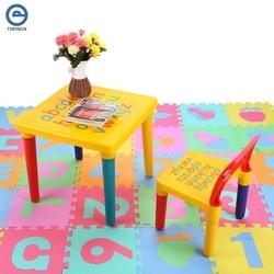 ABC Алфавит пластиковый стол и стул набор для детей/детская мебель Наборы ужин Пикник стол мебель