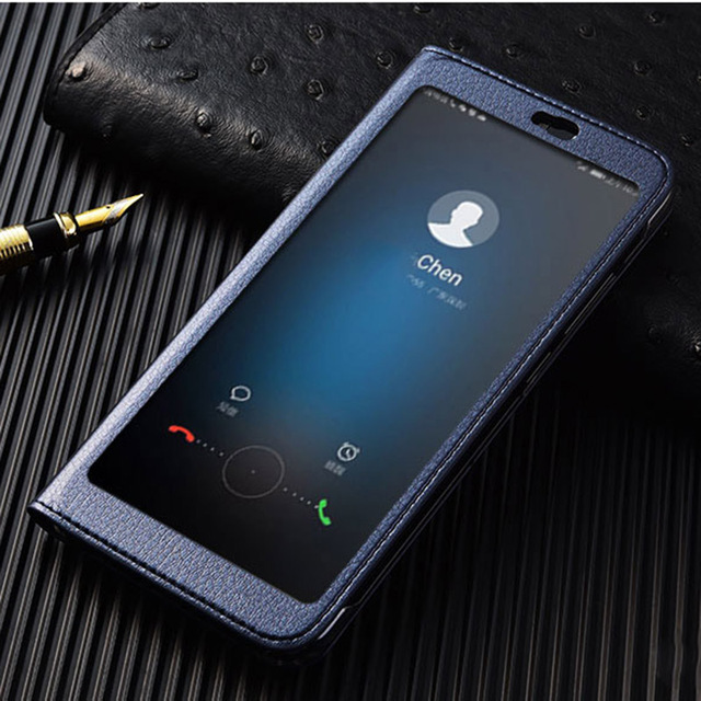 new concept e8509 77bdb US $6.9 21% OFF|Honor View 10 Case on Huawei Honor V10 Full View window  luxury PU leather flip cover case for Huawei Honor View 10 V10-in Flip  Cases ...