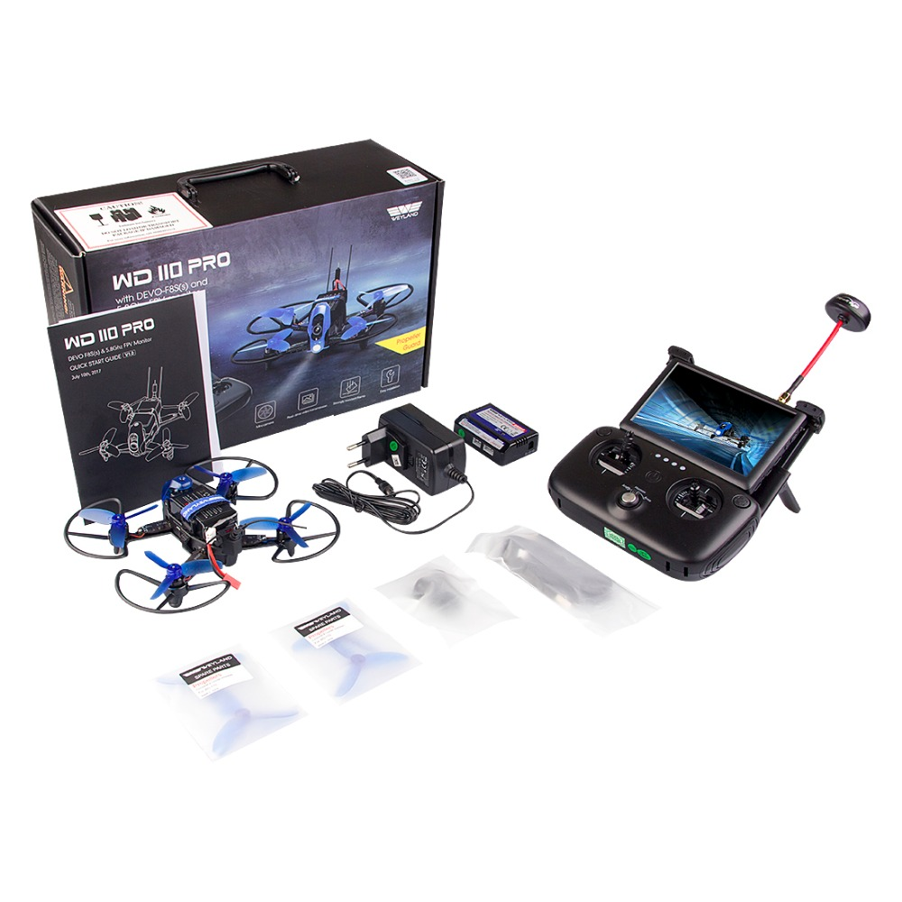 Weyland Rodeo 110 PRO RC Drone FPV Quadcopter With Camera HD Real-time Transmission 5.8G 8CH VTX OSD Drone remote Helicopter mini drone rc helicopter quadrocopter headless model drons remote control toys for kids dron copter vs jjrc h36 rc drone hobbies