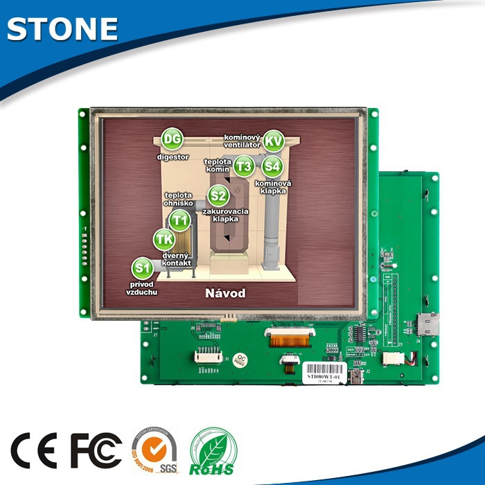 STNOE 3.5 Inch TFT LCd Module Embedded Touch Screen With PCB + CPU + Drive + Flash Memory + UART Port
