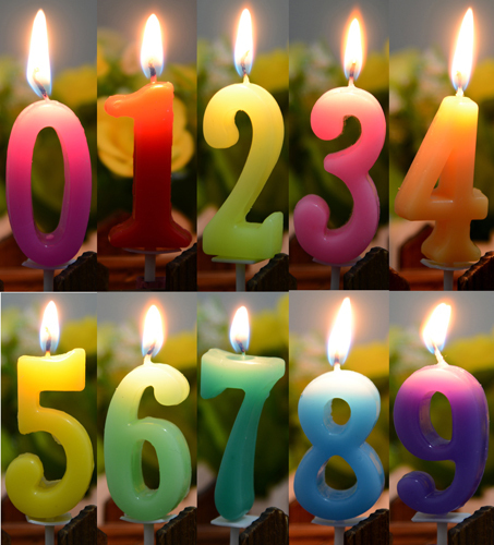 100 Pcs Pack Birthday Candles Numbers Decoration Home Supplies Free Shipping
