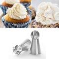 DIY Bolo Ferramenta de Decoração Cupcake 2 pcs Bola Esfera de Bicos de Tubulação de Pastelaria Bolo Russa