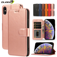 Vintage Leather Flip Wallet Case For iPhone 11 Pro X XS MAX XR 5 5s SE 6 6s 8 7 Plus Magnetic Card Holder Phone Cover Coque Etui цена и фото
