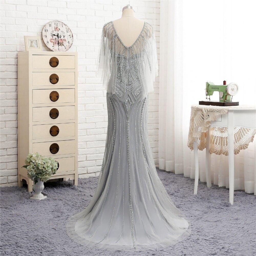 Robe de Soiree New Arrival Long   Evening     Dress   2018 Scoop Beading Sequined Abendkleider Mermaid Prom   Dress   Formal   Dresses   Vestido