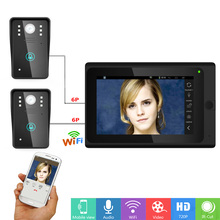 YobangSecurity Wifi Wireless Video Door Phone Doorbell Camera System Video Door Entry Intercom With 7 Inch Monitor Android IOS