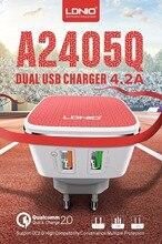 LDNIO A2405Q クイック 2.0 2 USB ポート英国/EU/米国のプラグイン壁携帯電話スマート充電器