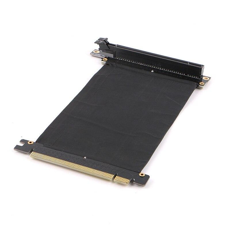PCI Express PCI-e 3.0 16x Riser Cartão Flexível Extensão Do Cartão Do Cabo Adaptador de Porta de Alta Velocidade Cartões Gráficos Cabo Conector L tipo