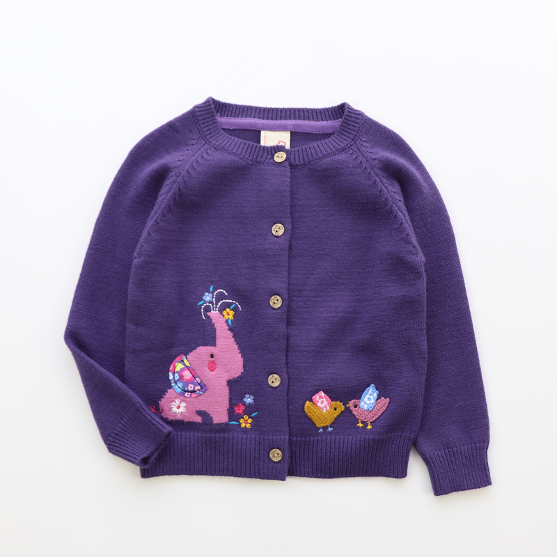 87332304345 Size Baby Cardigan For Girls Sweater For Girls Clothes Kids Clothes Baby Girl Sweater Elephant Child Clothes