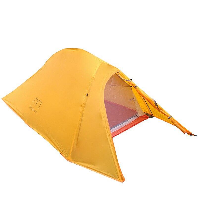 1.35 KG Silicone enduit imperméable 20D Nylon et Fiber de carbone pôle Double couche deux personnes ultra-léger UL Camping tente