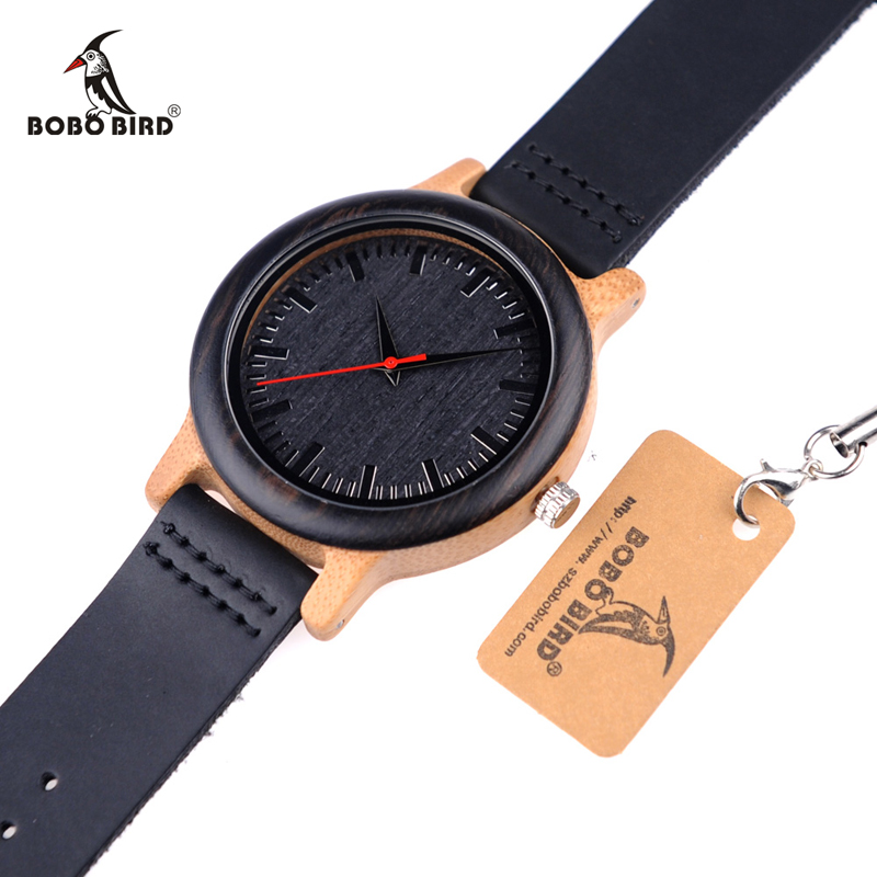 BOBO BIRD M13 Ebony ξύλινο αναλογικό ρολόι - Ανδρικά ρολόγια - Φωτογραφία 5