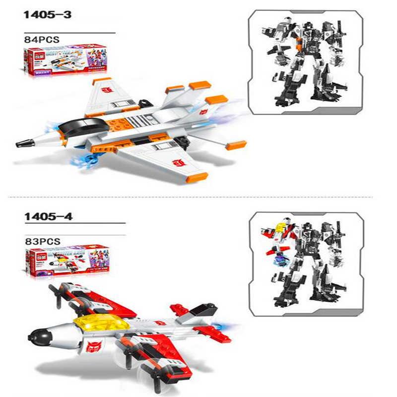 ILUMINAI 1405 Mecha 6 Em 1 Transformar Robô Conjunto de Blocos de Construção de Tijolos Technic Compatível Playmobil Brinquedos Para As Crianças