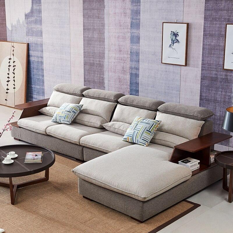 €778.56 5% de réduction 8812 tissu canapé ensemble salon canapé meubles  coin canapé ensembles meubles de maison sectionnel canapé moderne en forme  de ...