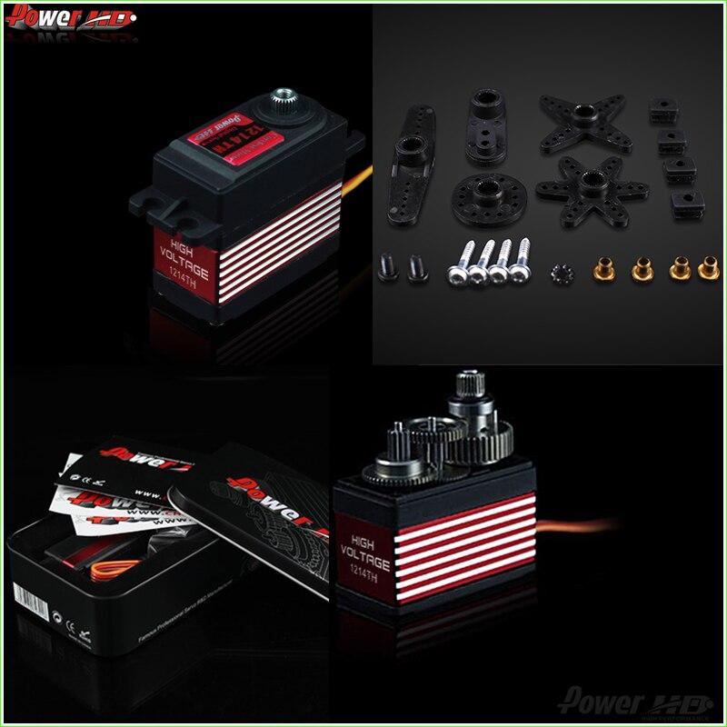 1pcs Power HD 16kg/57g Digital Servo HD-1214TH 7.4V High Voltage W/7075 Titanium Gears