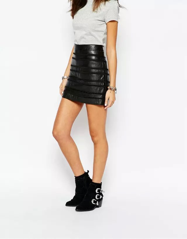 Aliexpress.com : Buy Women short leather skirt pencil fit ladies ...