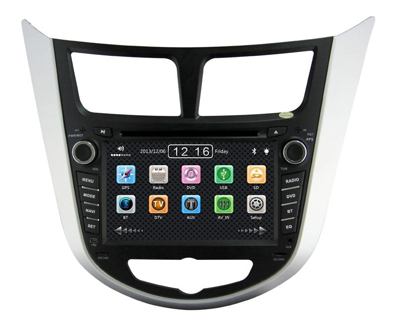 Hyundai Solaris Accent Car DVD Player System GPS Navigation,Bluetooth,FM/AM,MP3/MPEG4,IPOD,TV,DVD,USB,SD,V-6CD - Good partners Store store