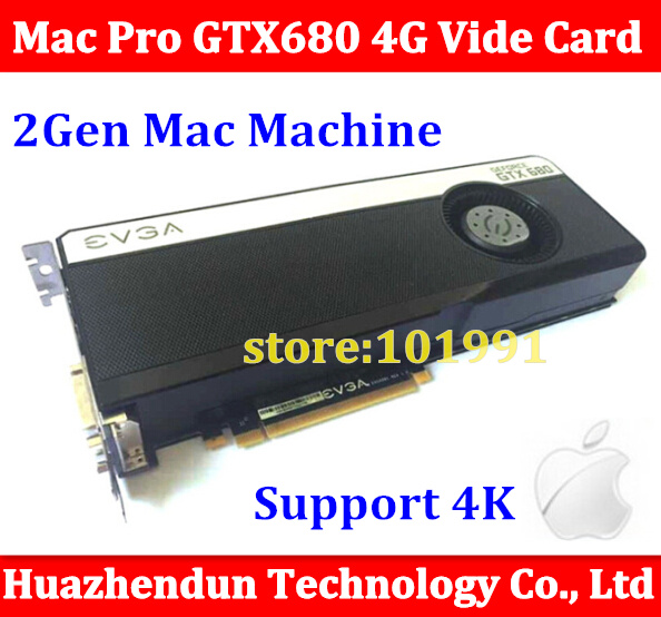 nVidia GTX680 4GB PCIe Video Card Suitable for macpro 3.1-5.1 model Exceed GTX285 Free ship via DHL original high quality for mac pro nvidia quadro fx5600 1 5gb pcie for macpro 2nd gen video graphic card than gtx285