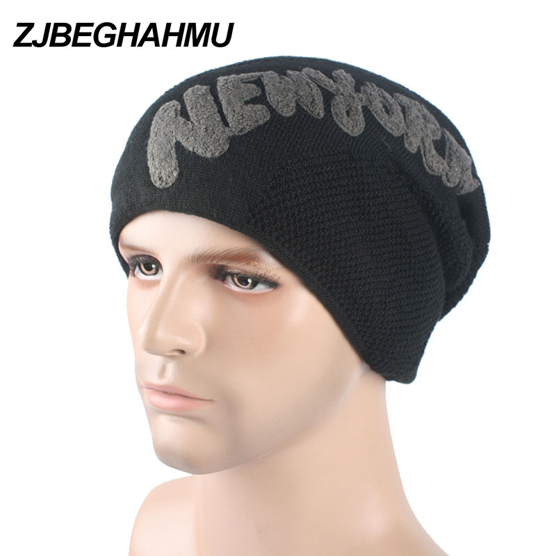 Casual Brand Men Winter Hat Beanie Hats Fur Warm Baggy Knitted Skullies Bonnet Ski Sports Adult cold Cap New Arrival Beanies 2017 top fashion promotion adult winter caps bonnet femme warm ski knitted crochet baggy beanie hat skullies cap hiphop hats