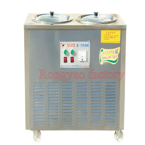 RY CBJ1080 2016 hot sale commercial double compressors fried ice machine