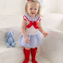 2019summer Kids Cotton Toddle Clothes Bow Shirt+pants Newborn Quality Girls Ruffle Outfits  Boutique