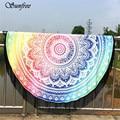 Sunfree 2017 caliente saleround hippie mandala tapiz borla playa tiro toalla yoga mat bohemio nueva marca de alta calidad de enero 13