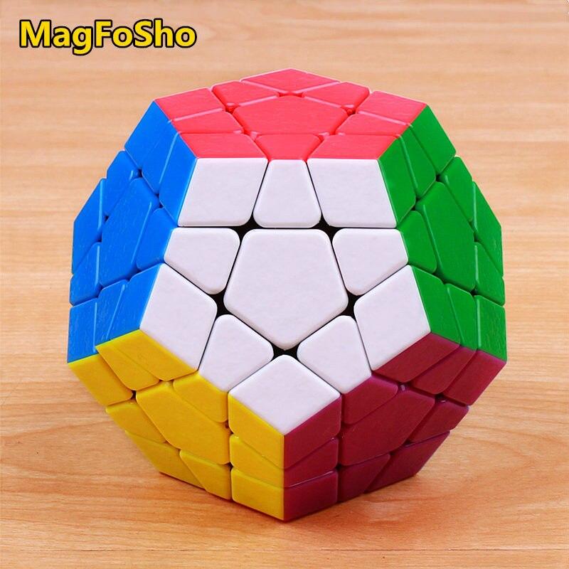 Shengshou MagFoSho Megaminxeds Magic Cube Speed Puzzle Cubes Sticker Less Anti Stress Toys Professional 12 Sides Cube