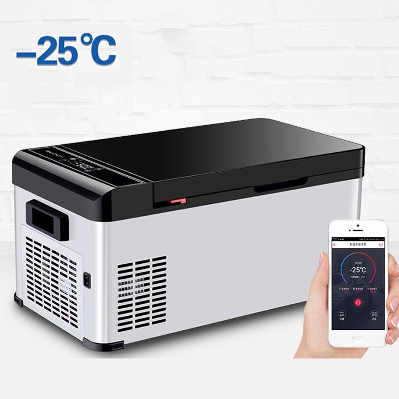 21L Car Refrigerator Freezer Cooler Portable Mini Fridge Compressor Refrigeration Low Noise AC/DC For Car Home Camping Picnic