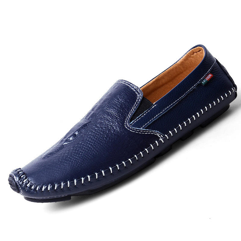 2017 Men Flats Genuine Leather Loafers Shoes Slip On Casual Shoes Moccasins Boat Shoes Male Soft Driving Shoes Zapatos XK032212 fashion nature leather men casual shoes light breathable flats shoes slip on walking driving loafers zapatos hombre
