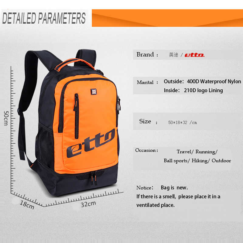 ... Etto 2018 Quality Men Independent Shoes Storage Sports Backpack  Basketball Soccer Team Training Bag Large Gym 9c194d0d50773