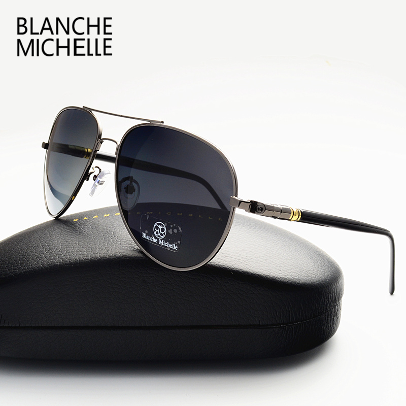 Image 5 - Blanche Michelle 2019 High Quality Polarized Sunglasses Men Brand Designer Sun Glasses Driving UV400 Vintage oculos With Box-in Men's Sunglasses from Apparel Accessories on AliExpress