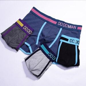 Image 4 - כותנה גברים מתאגרפים תחתונים מזדמנים תחתונים סקסיים לאוורר בתוספת גודל רחב מותניים מכנסיים מכנסיים 4 יח\חבילה